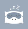 cushion and black mask for comfortable sleep vector image vector image