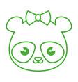 cute and tender female bear panda kawaii style vector image vector image
