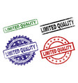damaged textured limited quality stamp seals vector image vector image