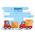 delivery forklift with truck vector image