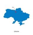 Detailed map of Ukraine and capital city Kiev