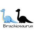 different design of brachiosaurus dinosaur vector image