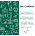 education poster with line icons vector image vector image
