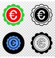 euro award eps icon with contour version vector image vector image