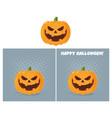 evil halloween pumpkin character collection vector image vector image