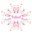Festival background vector image