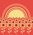 field sunflowers background vector image vector image