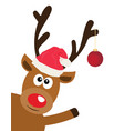 fun reindeer vector image