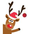fun reindeer vector image vector image