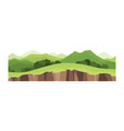 game landscape cartoon design nature landscape vector image vector image