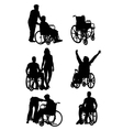 Handicapped and wheelchair Silhouettes vector image vector image