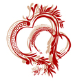 heart calligraphy vector image