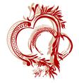 heart calligraphy vector image vector image