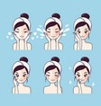 how to wash facial cleansing vector image vector image