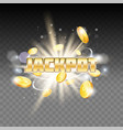 jackpot gambling poster banner template vector image