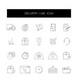 line icons set delivery pack vector image vector image