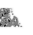 liquid zebra metaball organic structure the vector image