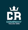 modern letter cr or rc logo vector image