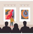 museum art gallery 3 vector image vector image