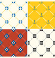 navy and nautical seamless pattern theme set 4 vector image