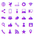 network gradient icons on white background vector image