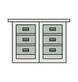 office file cabinet vector image