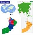 Oman map vector image