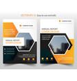 orange hexagon annual report brochure design vector image vector image