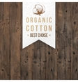 Organic cotton label with type design vector image vector image