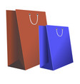 paper bags for store purchases vector image