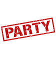 party stamp vector image vector image
