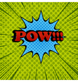 Pow comic cartoon wording vector image vector image