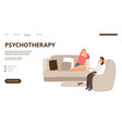 psychotherapy landing page vector image