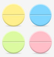 realistic colored pills and tablets isolated on vector image