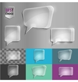 Rectangle and square set of glass shape speech vector image vector image