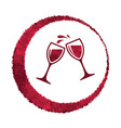red wine glass splash vector image