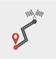 road and location icon vector image vector image