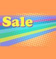 sale 80s retro background bright multicolored vector image