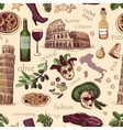 seamless pattern italy vector image vector image