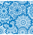 Seamless pattern of white round ornaments vector image