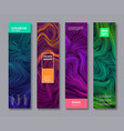 set banner design with abstract liquid lines vector image vector image