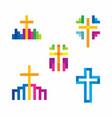 set of biblical logos for church vector image vector image