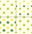 set seamless patterns with flowers vector image vector image