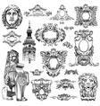 sketch calligraphic drawing heraldic design vector image vector image