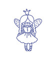 small linear fairy princess vector image