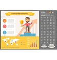 Stomatology flat design Infographic Template vector image vector image