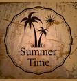 summer holidays logo vector image vector image