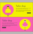 tailor shop web pages set