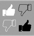 thumbs up thumbs down on isolated background vector image vector image
