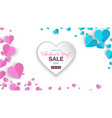 valentines day banner sale special offers vector image vector image